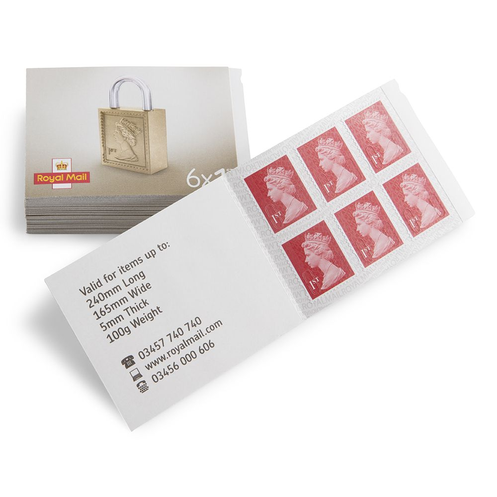 Book of 6 1st Class Stamps