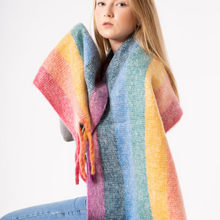 Load image into Gallery viewer, Pastel Rainbow Stripe Scarf