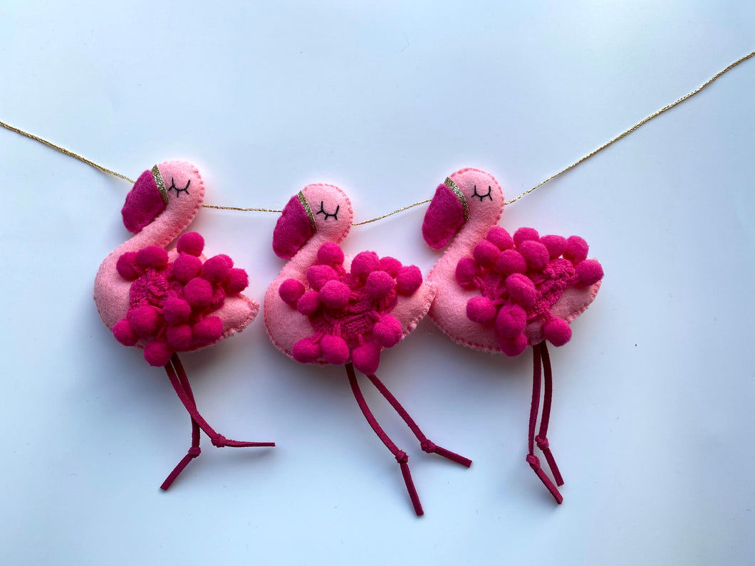 Felt Flamingo Garland