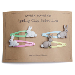 Spring Bunny set of four clips
