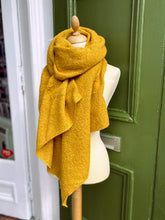 Load image into Gallery viewer, Mustard yellow asymmetric scarf