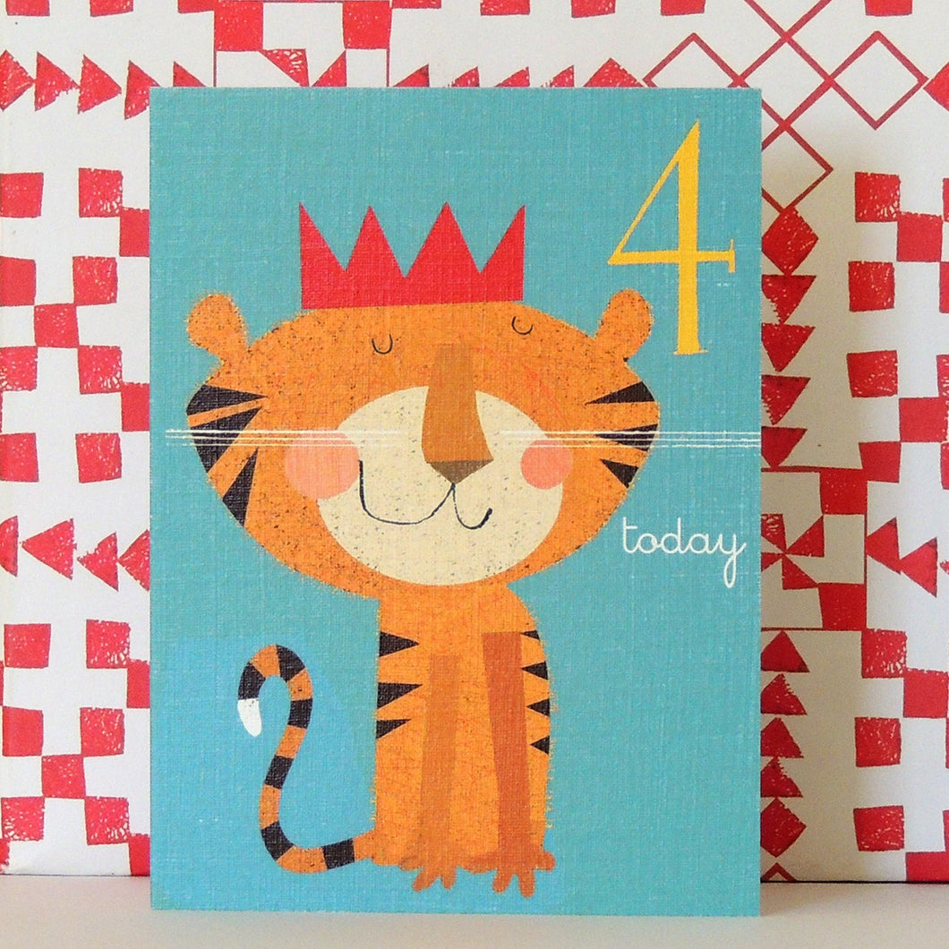 Age 4 tiger mini card