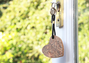 Heart cork keyring