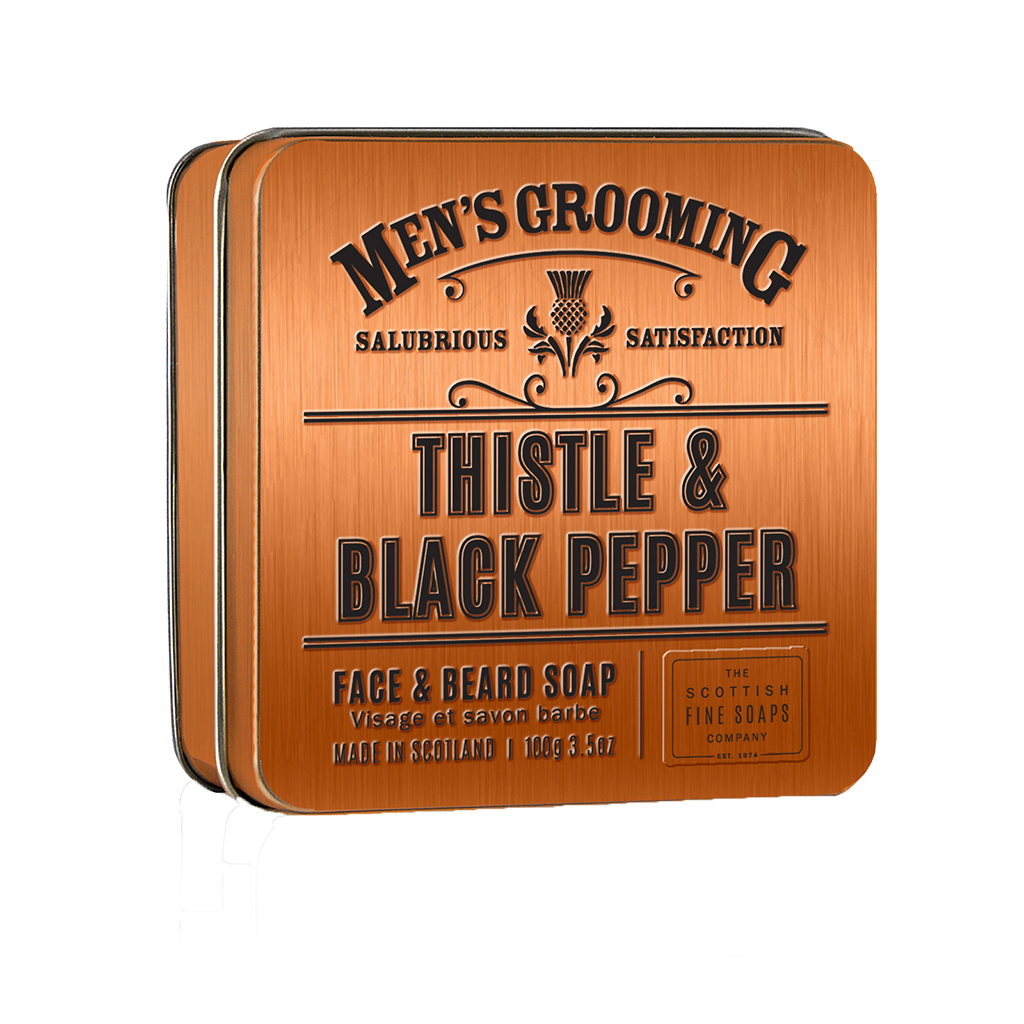 Thistle and Black Pepper face and beard soap