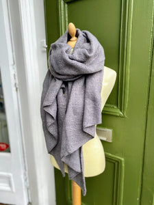 Grey asymmetric scarf