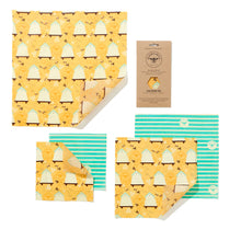 Load image into Gallery viewer, Beeswax food wraps - large pack