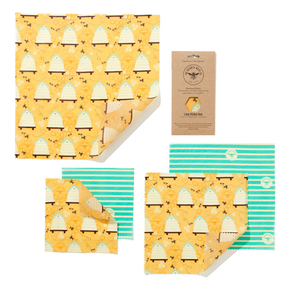 Beeswax food wraps - large pack