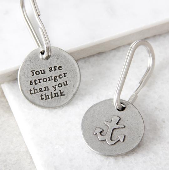 'Stronger Than You Think' anchor keyring