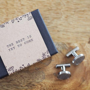 'Best to Come' cufflinks
