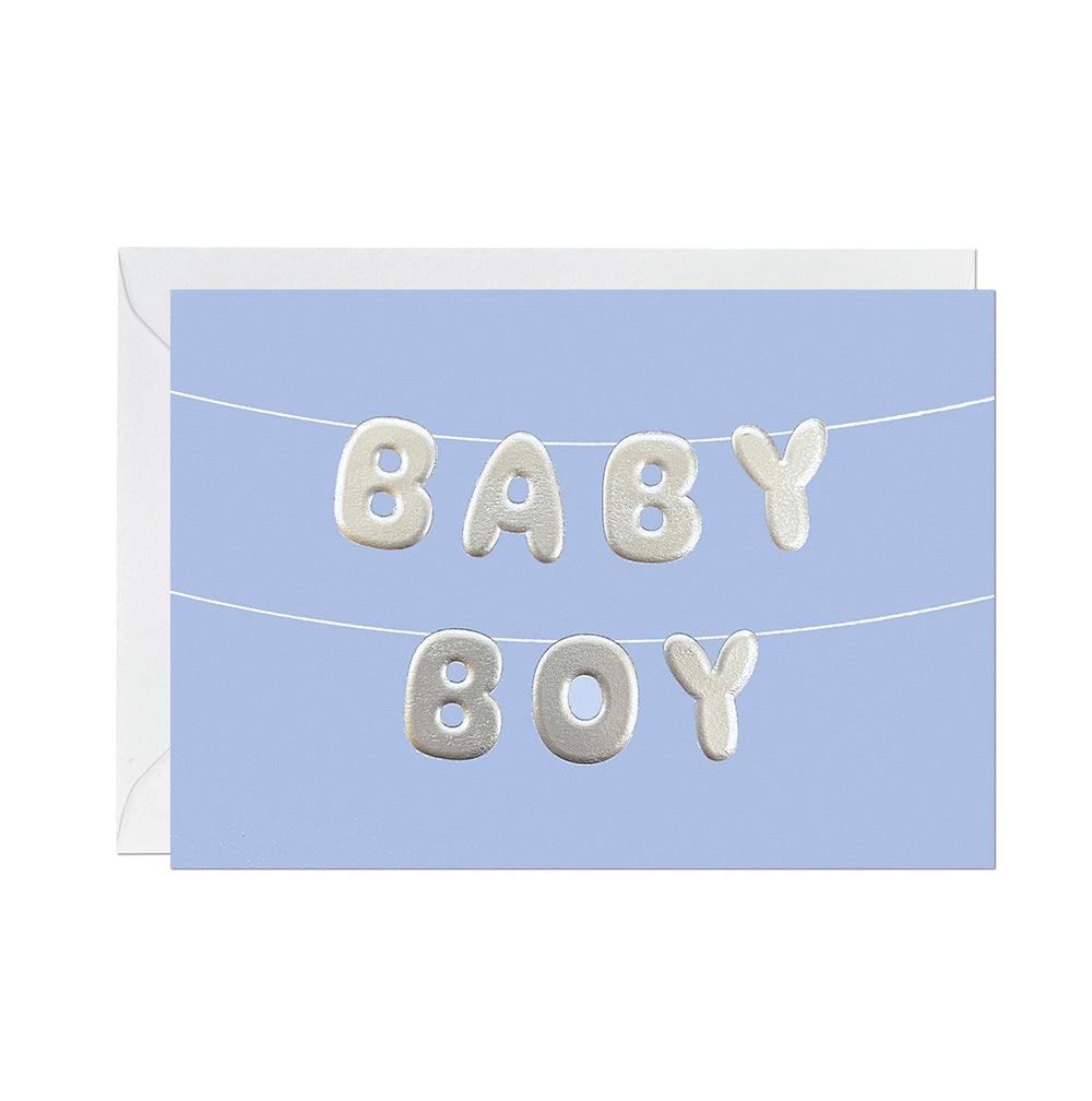 Baby Boy balloon bunting card