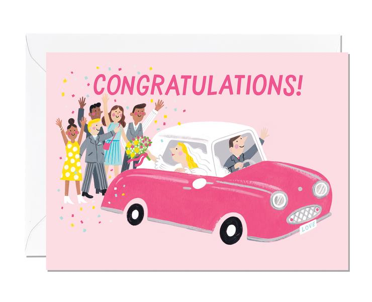 Congratulations Wedding car