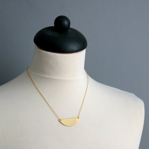 Industrial Crescent Necklace