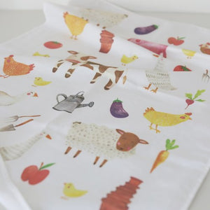Farmyard Tea Towel