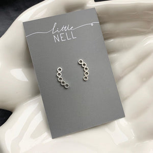 Gold or Silver circle climber studs