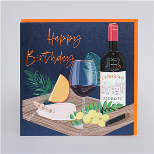 Happy Birthday - wine and cheese