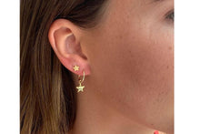 Load image into Gallery viewer, Star Stud Gold Earrings