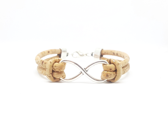 Infinity Cork Bracelet - different colours available