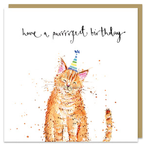 Purrrrfect Birthday card