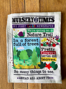 Nature Trail Crinkly Newspaper and Card