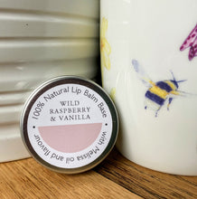 Load image into Gallery viewer, Wild raspberry & vanilla natural lip balm