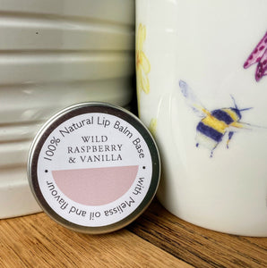 Wild raspberry & vanilla natural lip balm