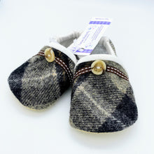 Load image into Gallery viewer, Harris Tweed Baby Shoes - grey check