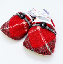 Load image into Gallery viewer, Harris Tweed Baby Shoes - red/grey check
