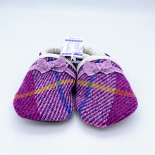Load image into Gallery viewer, Harris Tweed Baby Shoes - purple check