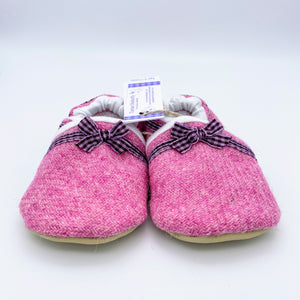 Harris Tweed Baby Shoes - plain pink