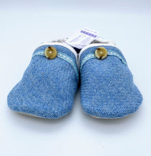 Load image into Gallery viewer, Harris Tweed Baby Shoes - plain light blue