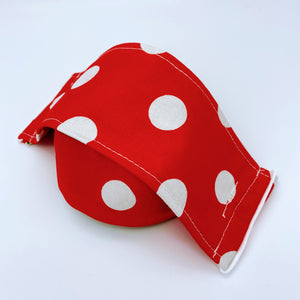 Face Covering by Pippin - red polka dot