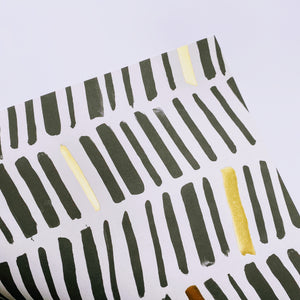 Black and Gold Lines wrapping paper