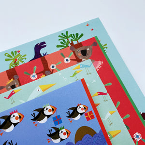 Colourful Creatures wrapping paper bundle