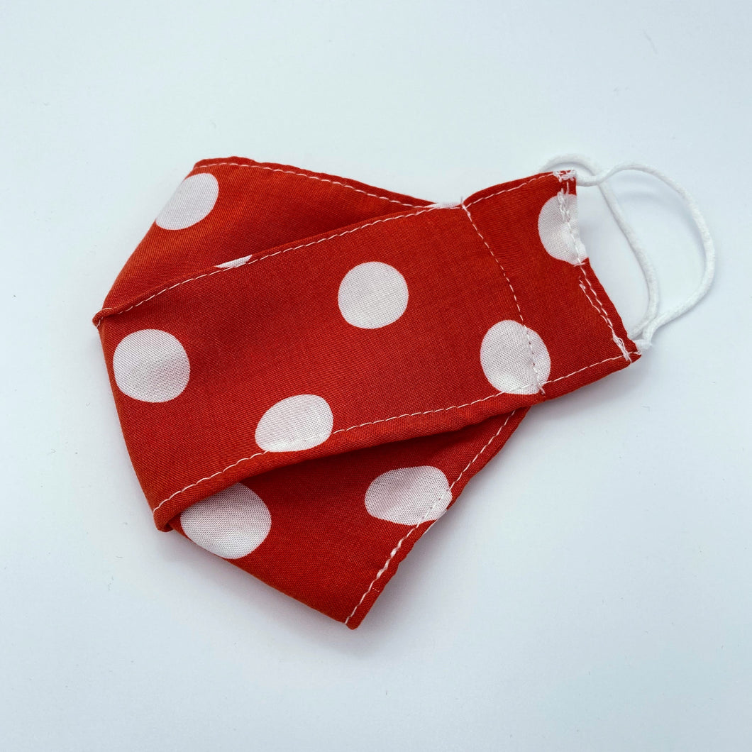 Red Polka face mask - non wired