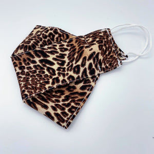 Leopard print face mask - non wired