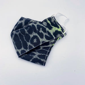 Animal Print Green face mask - non wired