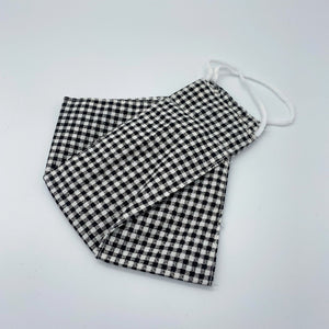 Black Gingham face mask non wired