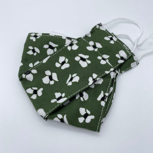 Green floral - face mask non wired