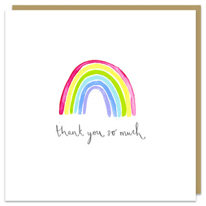 Thank You rainbow card
