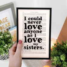 Load image into Gallery viewer, I Love My Sisters - book page print