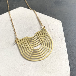 Geometric Brass Marnie Necklace