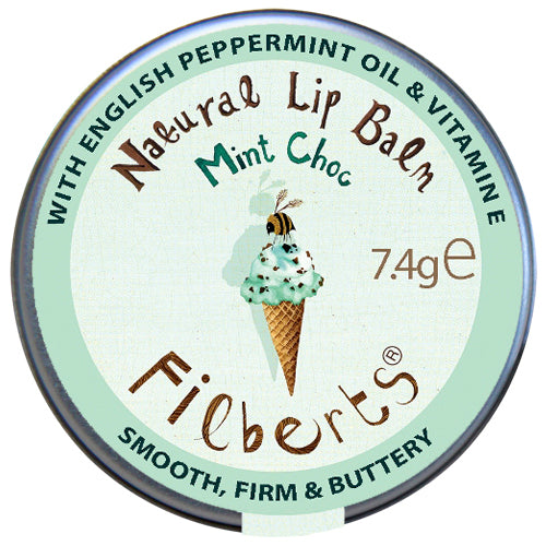 Filberts mint choc natural lip balm