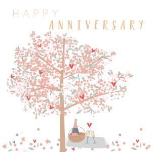 Happy Anniversary - tree picnic