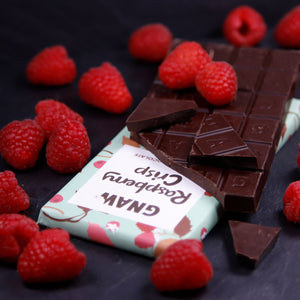 Raspberry Crisp Dark Chocolate Bar