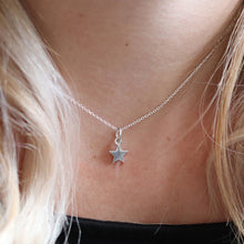 Load image into Gallery viewer, Small silver star necklace