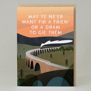 Frien' or a Dram to Gie Them - card