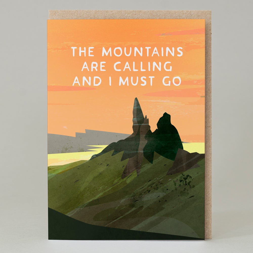 Mountains Are Calling - card