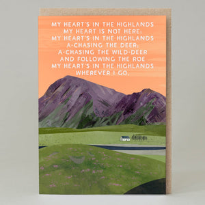 My Heart's In The Highlands - card