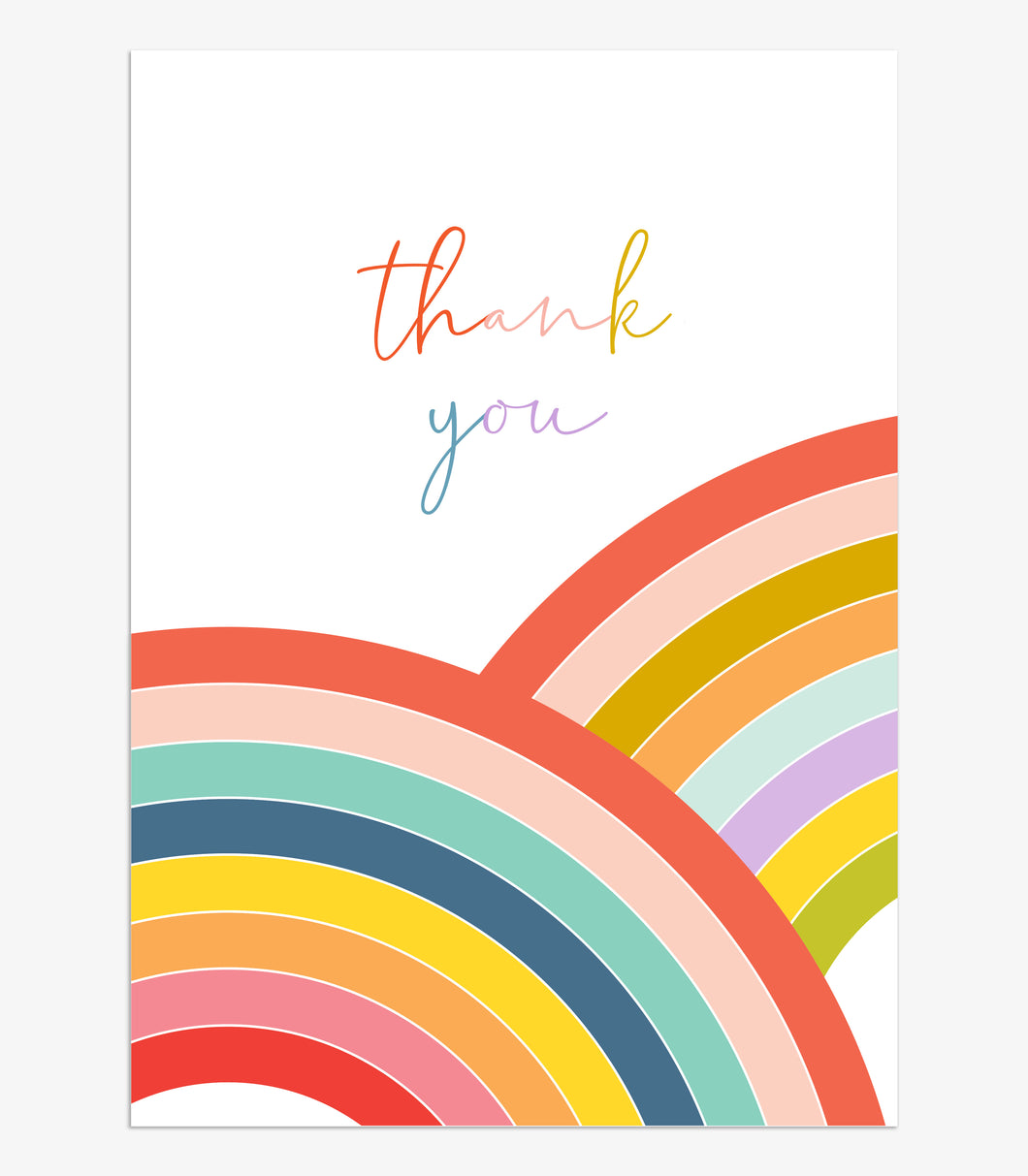 Thank You - Rainbows - pack of 8 cards