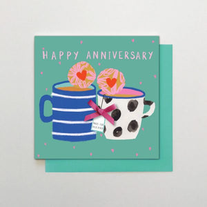 Happy Anniversary - mugs and biscuits